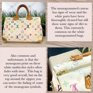 Louis Vuitton Bags - Authenticated Louis Vuitton Speedy 30 White Multi
